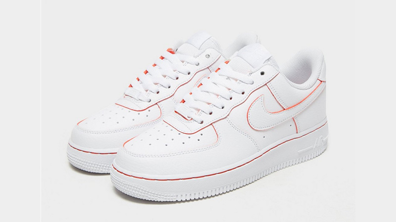 Nike Air Force 1 07 LV8 White Red Womens