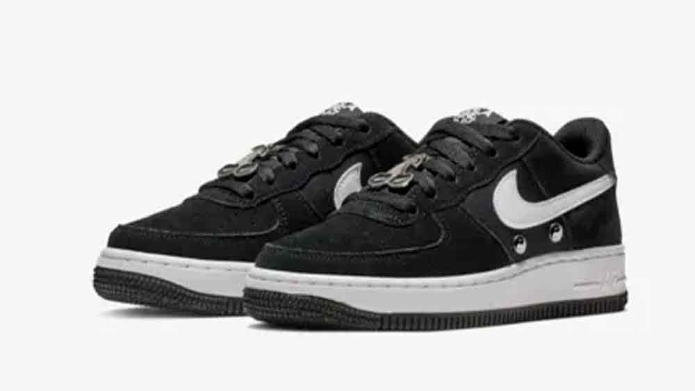 100% authentic b10ed 4e60e ... loving the Nike Air Force 1 LV8 Have A Nike Day Grade School Shoe in  Black as much as us, click the stockists listed below to cop! UK true  DD MM YYYY