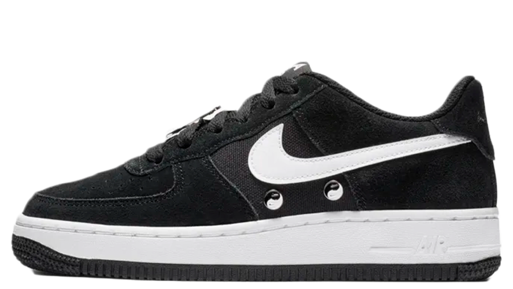 8947d7273456 ... loving the Nike Air Force 1 LV8 Have A Nike Day Grade School Shoe in  Black as much as us