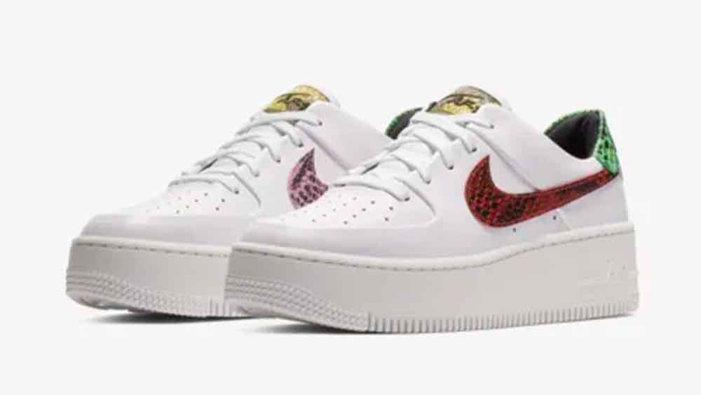 info for 5f111 f48e8 Nike Air Force 1 Sage Low Premium Snake White | BV1979-100