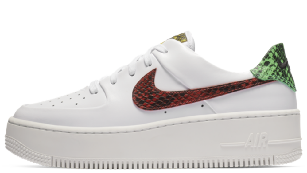 info for d21ba 91c77 Nike Air Force 1 Sage Low Premium Snake White | BV1979-100