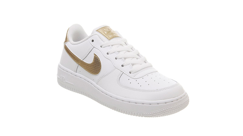 separation shoes b76f9 1ce89 Nike Air Force 1 Trainers White Blush Gold 03