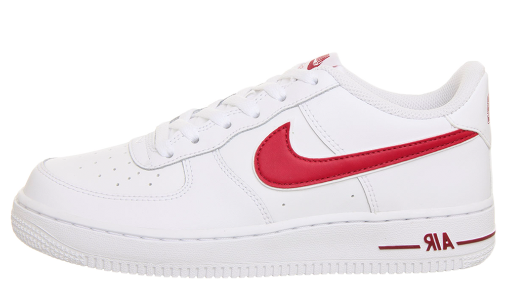 check-out f76ae 6646a Nike Air Force 1 GS White Red