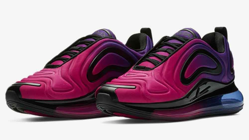 638a53f864a2f Nike Air Max 720 Women's Sunset Pink/Purple | AR9293-500 | The Sole ...