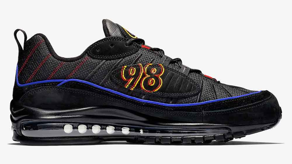 2ff733cb3c9be Nike Air Max 98 Black Blue