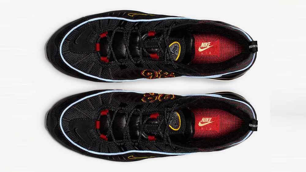 brand new 5d1ad 63e98 Nike Air Max 98 Black Blue   CD1537-001