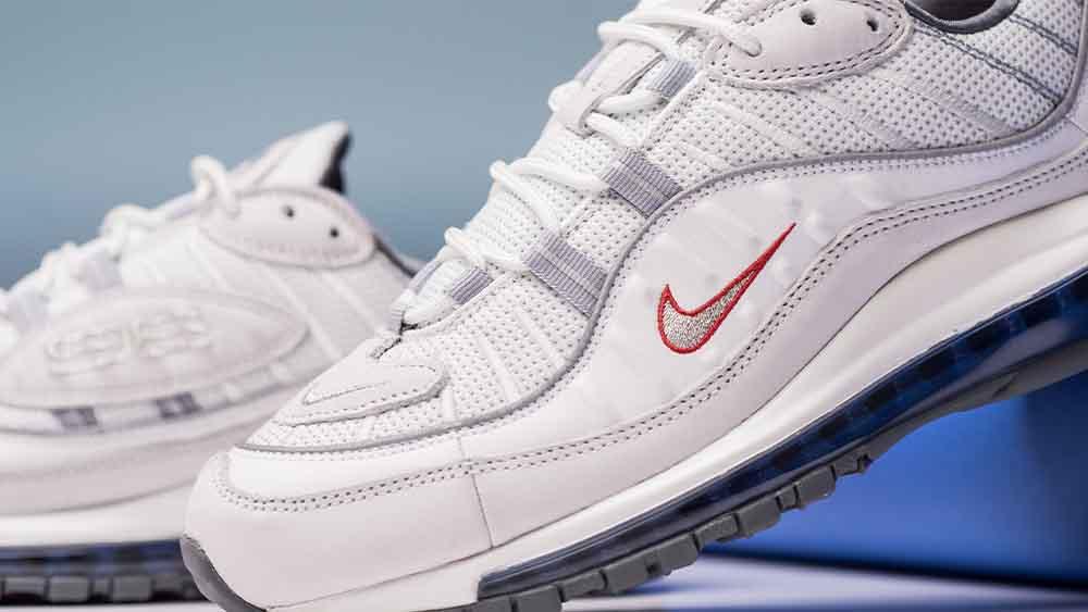 New Style Am98 Nike Air Max 98 White Total Orange Metallic