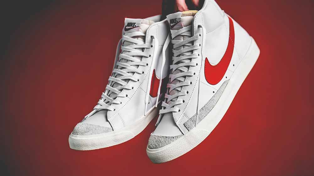 lace up in united kingdom cute Nike Blazer Mid '77 Vintage White Red | BQ6806-600