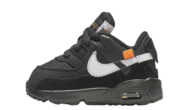 finest selection f6fd9 b5f7d Off-White x Nike Air Max 90 Black Toddler