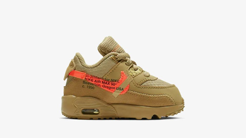 Off-White Nike Air Max 90 Desert Ore Toddler 03