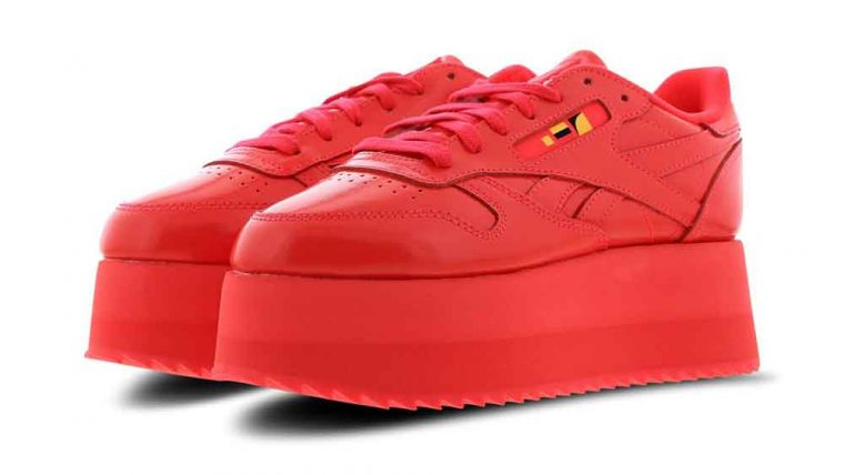 Reebok x Gigi Hadid Classic Leather Triple Platform Red | DV5389