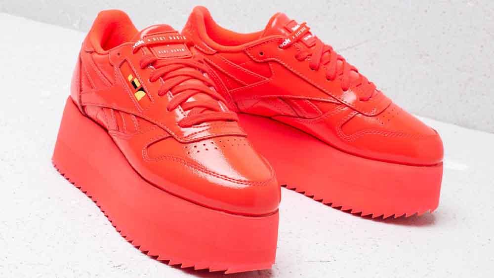 63f736b4422 Reebok x Gigi Hadid Classic Leather Triple Platform Red
