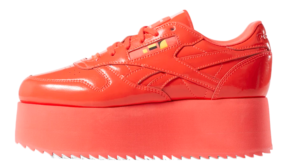 16828ca448d Check out the stockists linked on this page to cop a pair of the Reebok x  Gigi Hadid Classic Leather Triple Platform in Red if you re loving them!