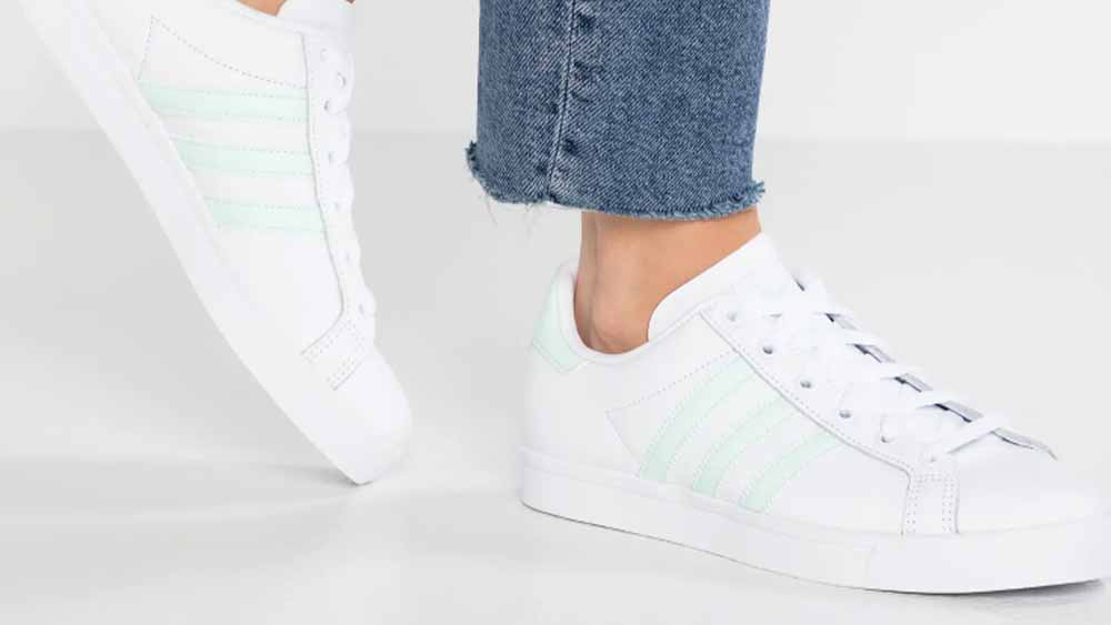 adidas Coast Star Trainers in White and