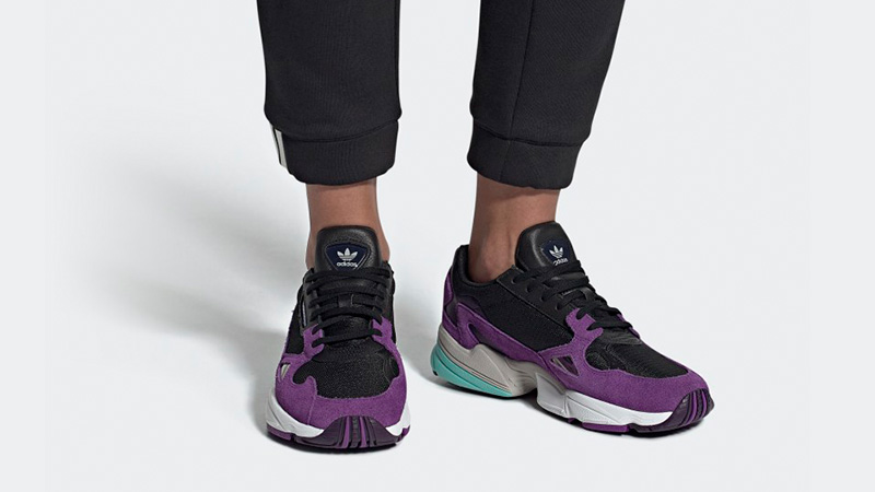 adidas Falcon Black Purple | CG6216 | The Sole Womens