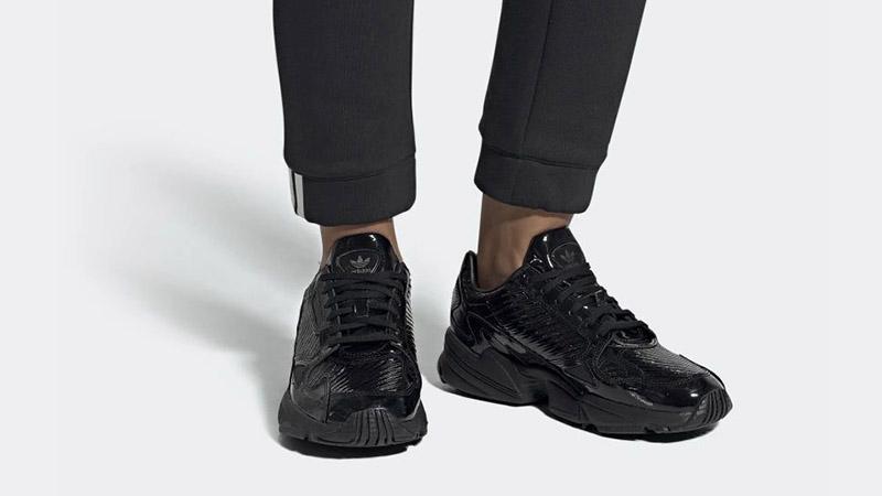 adidas Falcon Triple Black Patent