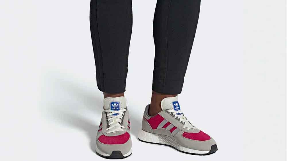 adidas marathon tech on feet