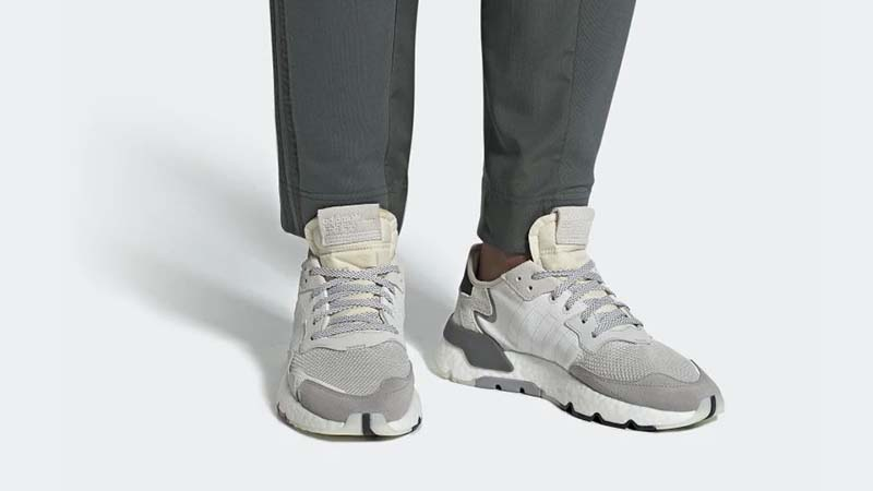 Adidas 'Nite Jogger' Sneakers in White
