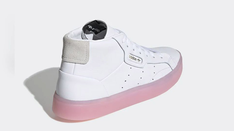 adidas Sleek Mid White Pink EE8612 01