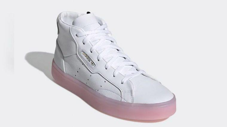 adidas Sleek Mid White Pink EE8612 03 thumbnail image