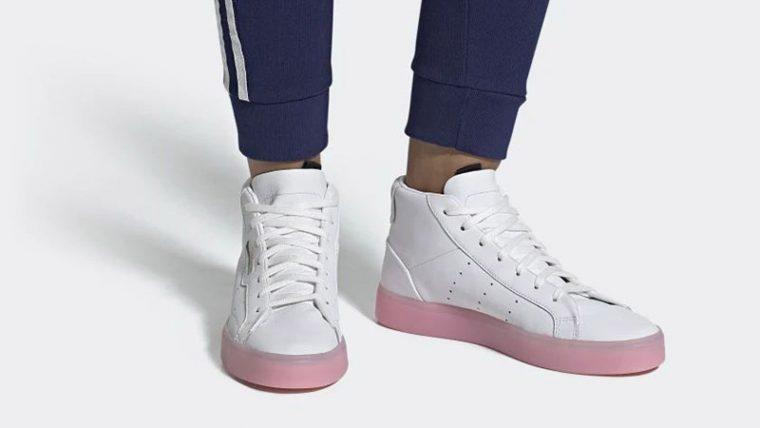 adidas Sleek Mid White Pink EE8612 04