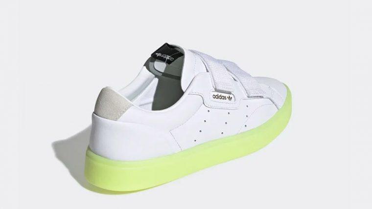 adidas Sleek S White Volt EE8279 01