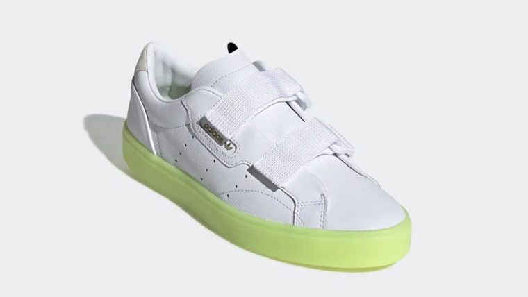 adidas Sleek S White Volt EE8279 03