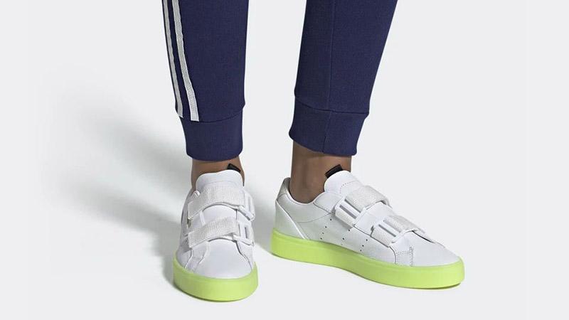 adidas Sleek S White Volt EE8279 04