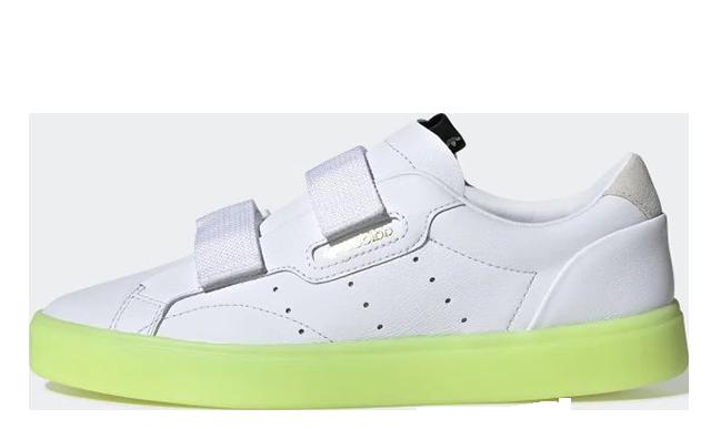 c181454e3843 adidas Sleek Mid White Pink
