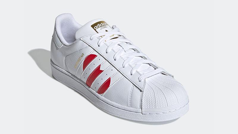 adidas Superstar Valentines Day Pack White Red EG3396 01