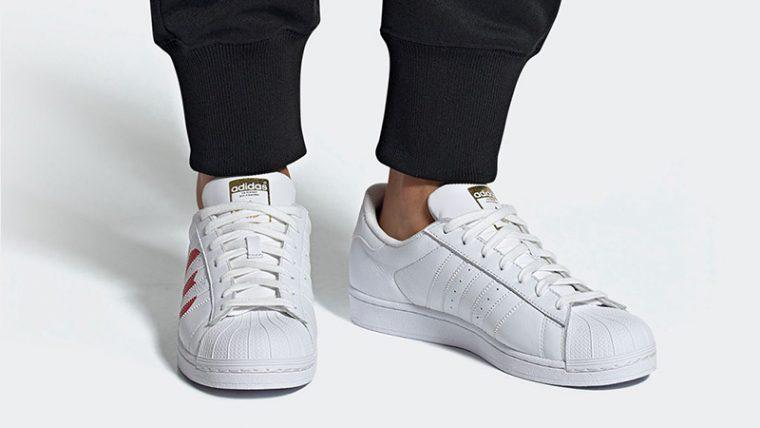 adidas Superstar Valentines Day Pack White Red EG3396 03 thumbnail image