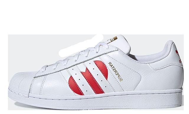 adidas Superstar Valentines Day Pack White Red EG3396
