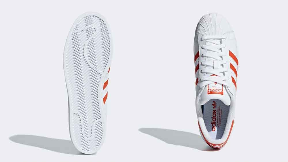 adidas Superstar White Orange | Where