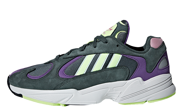 official photos recognized brands release info on adidas Yung 1 Green Purple | BD7655