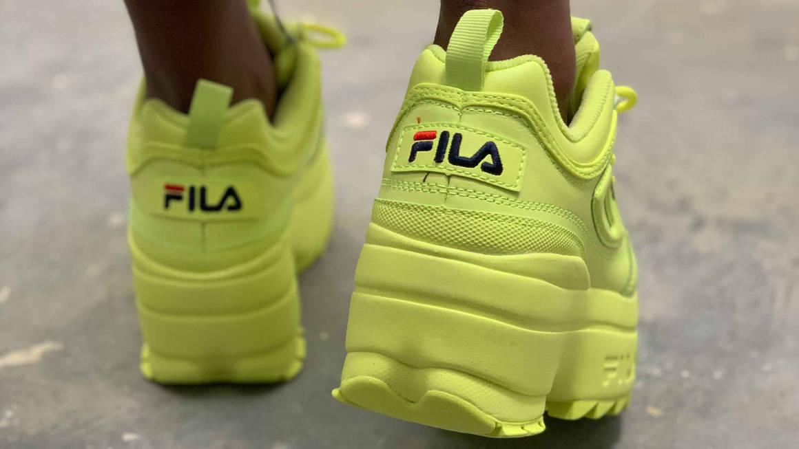 FILA Platform Lime styling