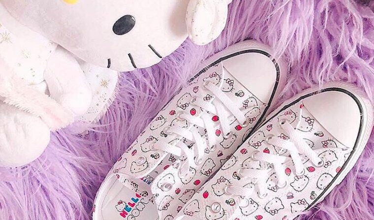 a8fc337cc Converse's partnership with Sanrio combines two of our favourite things;  kittens and kicks.
