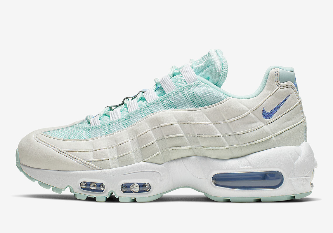 0be00a101b3d1 Teal And Royal Tint Paints The Nike Air Max 95