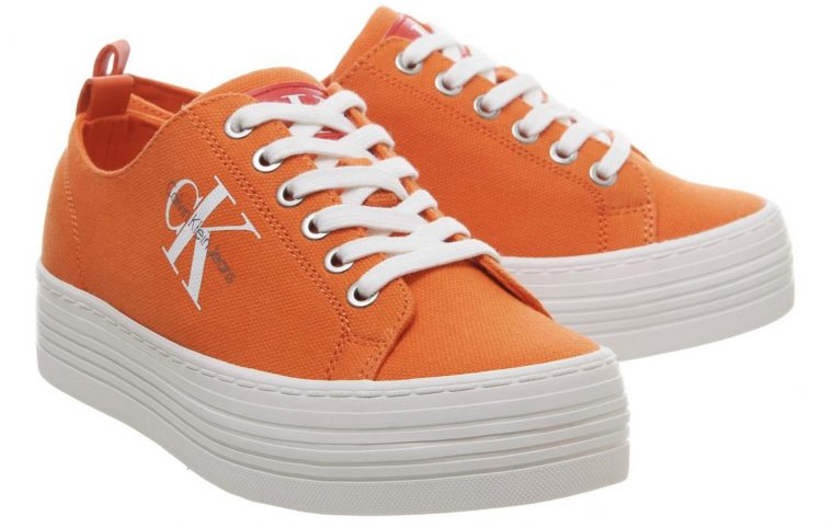 Calvin Klein Zolah Flatform Orange thumbnail image