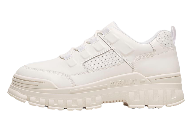 Caterpillar Rise Leather White Womens