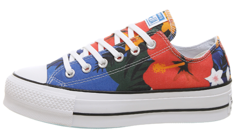 Converse All Star Low Platform Floral Multi