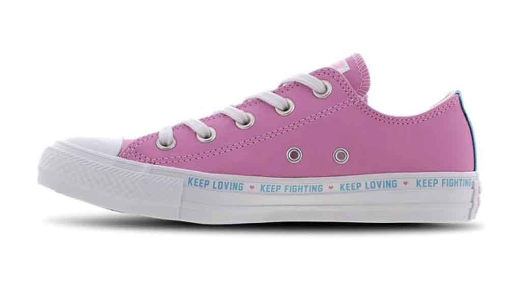 sports shoes 37ad7 3b38c Converse Chuck Taylor Ox Low Love The Progress Pink GS