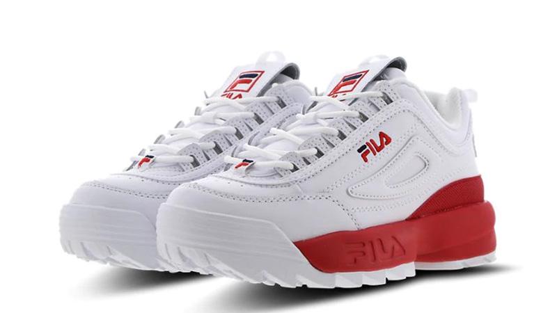 Fila Disruptor II White Red 03