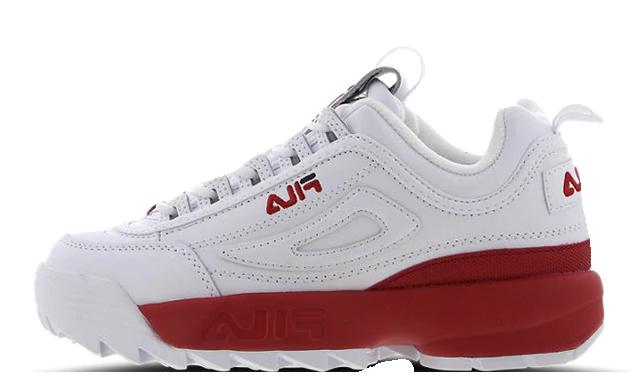 Fila Disruptor II White Red
