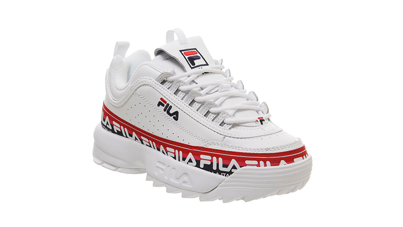 Fila Disruptor II White Tape 03