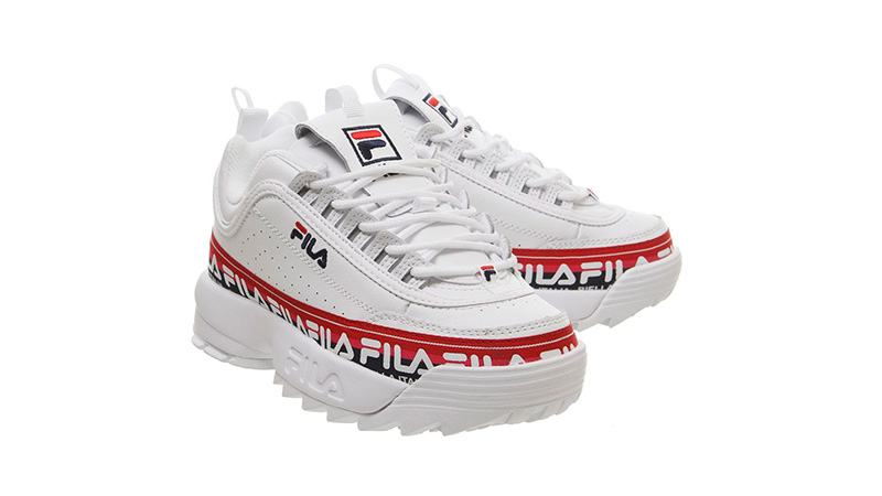 Fila Disruptor II White Tape 04