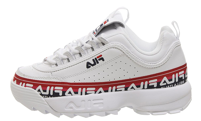 Fila Disruptor II White Tape
