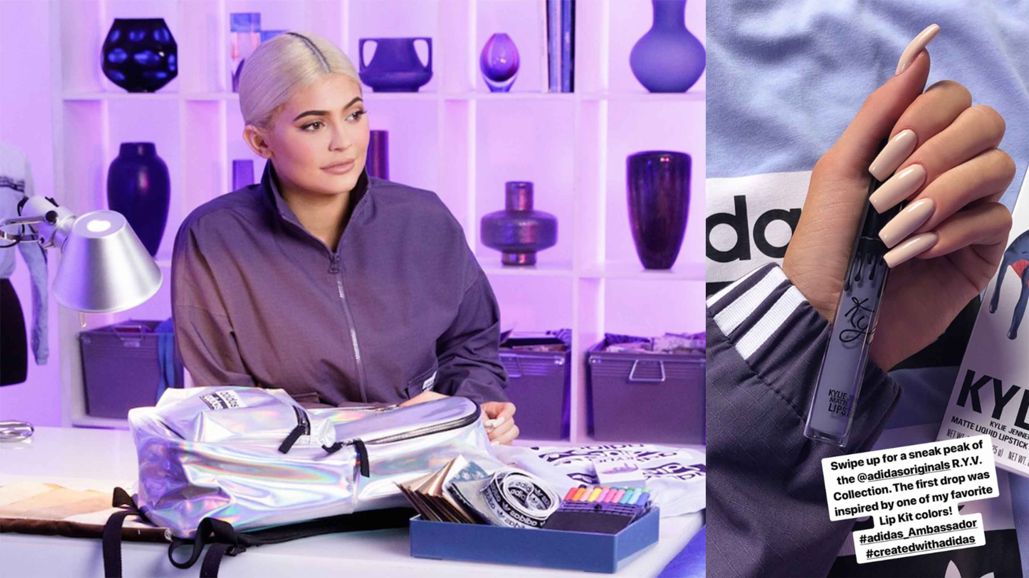 online retailer 84adc dfd54 Kylie Teams Up With adidas Again For A Lip Kit Inspired Falcon   Upcoming  Sneaker Releases   The Sole Womens