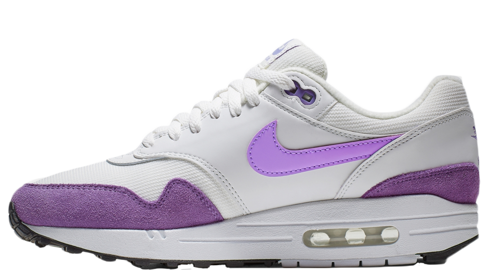 new products latest closer at Nike Air Max 1 White Purple | 319986-118