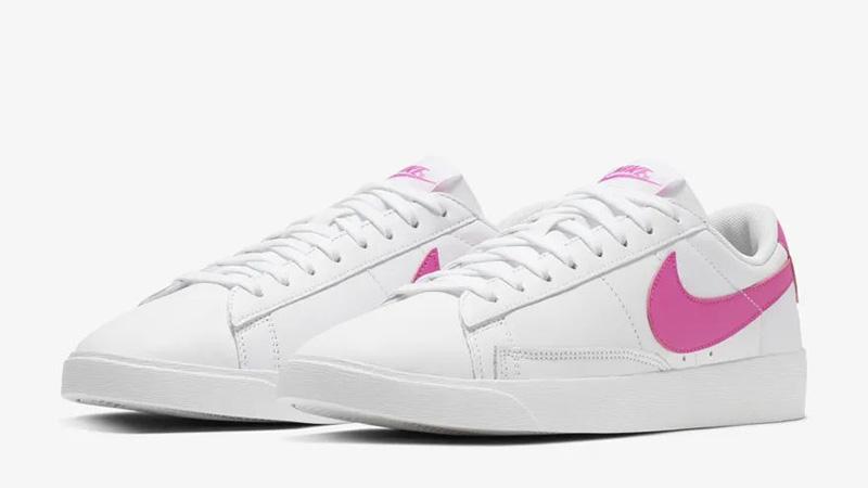 nike blazer low le pink
