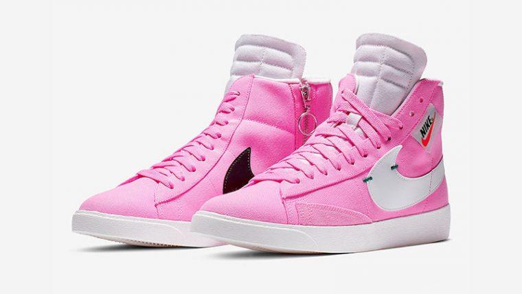 Nike Blazer Mid Rebel Pink White BQ4022-602 03 thumbnail image